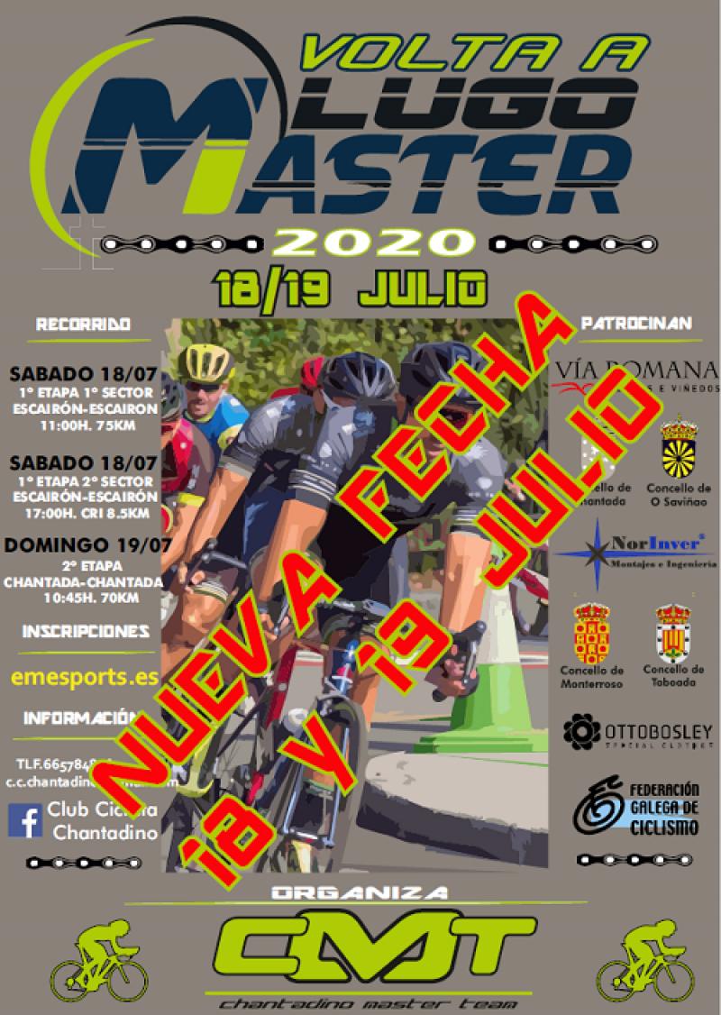 Cartel del evento VOLTA A LUGO MASTER 2020