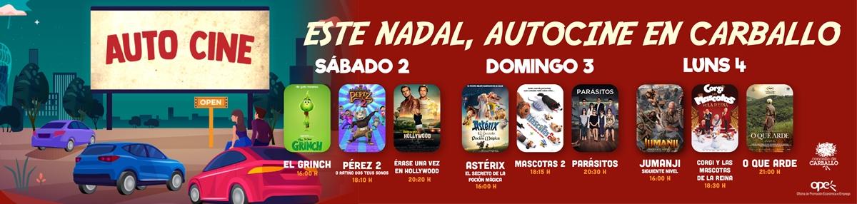 Inscrición - AUTOCINEMA DE NADAL DE CARBALLO
